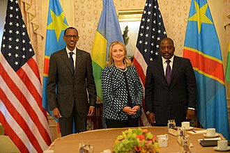 Joseph Kabila - Trilateral meeting with U.S. Secretary of State Hillary Clinton and Rwandan President Paul Kagame, September 2012