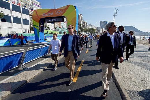 Secretary Kerry and Staff Tour the Men's Olympic Cycling Area Before The Start of a Race (28772460556).jpg