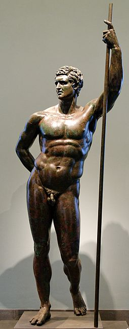 The Hellenistic Prince, a bronze statue originally thought to be a Seleucid, or Attalus II of Pergamon, now considered a portrait of a Roman general, made by a Greek artist working in Rome in the 2nd century BC. Seleucid prince Massimo Inv1049.jpg