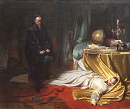 Seni at the Dead Body of Wallenstein Karl von Piloty.jpg