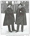 Serafín y Joaquín Álvarez Quintero en uno de sus paseos por el Retiro, de Campúa, La Esfera, 22-01-1916.jpg