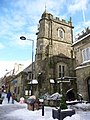 Shaftesbury, St. Peter's after snowfall - geograph.org.uk - 1153022.jpg