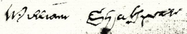 Автограф Шекспира на его завещании