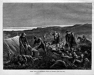 Sheep Wars - Sheep Raid in Colorado, by Harper's Weekly.
