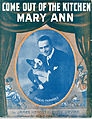 Sheet music cover - COME OUT OF THE KITCHEN MARY ANN (1915).jpg