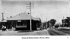 Shirley (MBTA station) - Shirley station on a postcard from the early 1900s