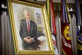 Shown here June 25, 2010, is the portrait of former Secretary of Defense Donald H. Rumsfeld displayed during a ceremony at the Pentagon 100625-D-JB366-023.jpg