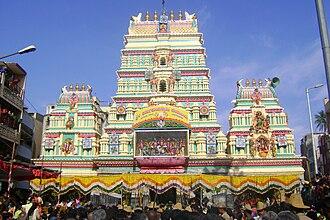 Bangalore Karaga - Sri Dharmaraya Swamy Temple from the Bangalore Karaga in 2009