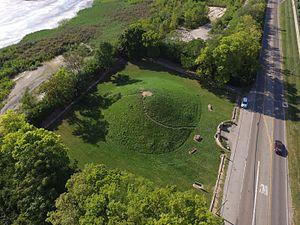 Shrum Mound - Image: Shrum Mound aerial 3