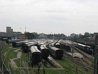 Thiruvananthapuram railway division - Shunting Yard of Thiruvananthapuram Central