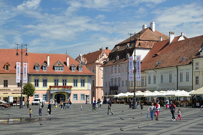 Romenia no inverno Sibiu.