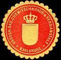 Siegelmarke Grossherzoglich Badische Chemisch - Technische - Prüf - & Versuchs - Anstalt - Karlsruhe W0227220.jpg