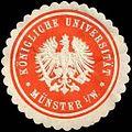 Siegelmarke Königliche Universität - Münster in Westfalen W0251418.jpg