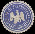 Siegelmarke K.Pr. 61. Infanterie-Brigade W0363898.jpg