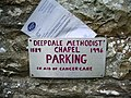 Sign for parking, but please give to charity. - geograph.org.uk - 440689.jpg