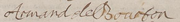 Signature of Armand de Bourbon, Prince of Conti at the marriage of the future Grand Condé in February 1641.png