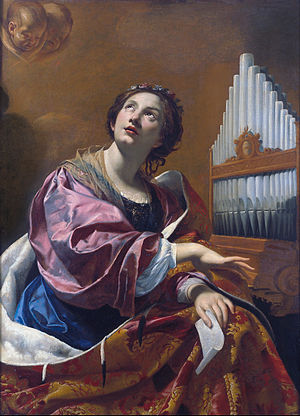 Music and emotion - Simon Vouet, Saint Cecilia.