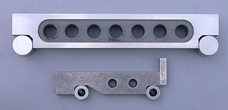 Sine bar - 10-inch and 100-millimetre sine bars.  In the U.S., 5-inch sine bars are the most common size.