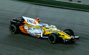 2008 Singapore Grand Prix - Despite qualifying down in fifteenth, Fernando Alonso took full advantage of pitting before the safety car period and his rivals' misfortunes, to take victory at the inaugural Singapore Grand Prix.