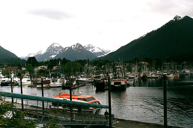 View of Crescent Harbor in Sitka, Alaska. Photograph by Robert A. Estremo.