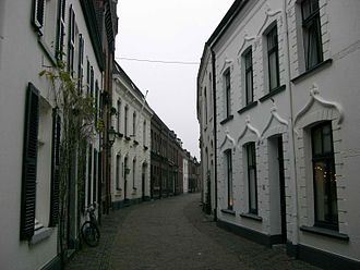 Sittard - Stylish buildings of a street in the ancient city centre.