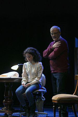 Mathilde Norholt - Mathilde Norholt and Preben Kristensen in Folketeatret's production of the play Skærmydsler