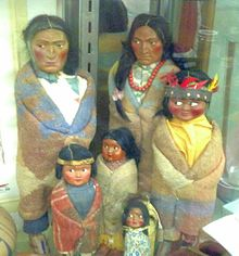 A group of Indian dolls of various sizes
