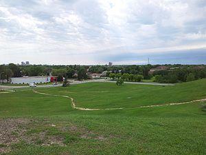 East Kildonan, Winnipeg - Skyline of Winnipeg from Civic Park