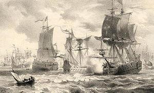 Battle of Cape St. Vincent (1641) - Battle of Cape St. Vincent, by Carel Christiaan Antony Last