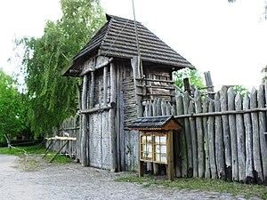 Dorothee Raetsch - Entrance to the Slavic Village Passentin