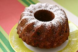 Small Bundt Cake on yellow and white plate.jpg