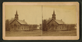 Small town church, Pawnee City, Nebraska, by Frank F. Currier.png