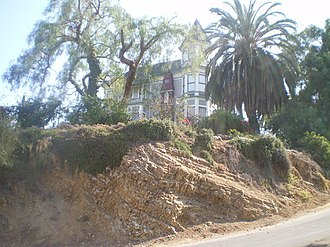 Smith Estate (Los Angeles) - Smith Estate from the base of El Mio Street