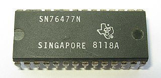 Texas Instruments SN76477 Sound generating integrated circuit