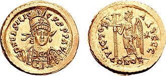 Basiliscus - Solidus of Emperor Basiliscus.