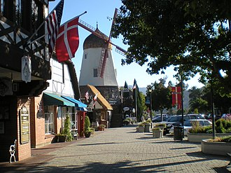 Solvang, California - A Danish-inspired windmill in Solvang