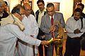 Somendranath Bandyopadhyay - Inaugural Lamp Lighting - Biswatosh Sengupta Solo Exhibition - Kolkata 2013-12-11 5057.JPG