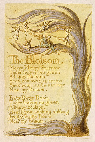 The Blossom - Image: Songs of Innocence, copy G, 1789 (Yale Center for British Art) object 9 The Blossom