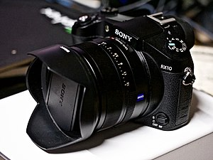 Cyber-shot - Sony Cyber-shot DSC-RX10 is a bridge camera that sports a 1 inch sensor and a Carl Zeiss lens.