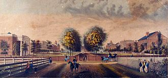 University of South Carolina - South Carolina College as it appeared in 1850 looking from College Street