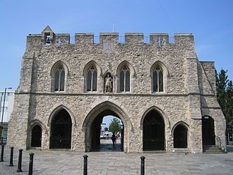 Listed buildings in Southampton - Bargate from the south side