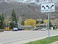 Southwest at SR-224 & SR-248 junction in Park City, Utah, Apr 16.jpg