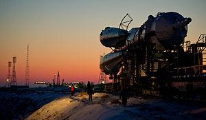 Soyuz TMA-03M - Image: Soyuz TMA 03M rollout 2