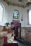 spaarndam - kerkraam boven ingang ter ere van 1940-45
