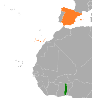 Spain–Togo relations