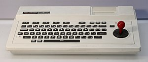 Spectravideo - The SV-318 featured an unusual combination of arrow keys and joystick.