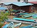 Speedboats and longboats at Kapit wharf.jpg