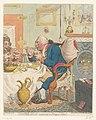 Spotprent op George III, 1792 Temperance enjoying a Frugal Meal (titel op object), RP-P-1990-256.jpg