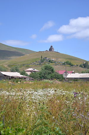 Tsaghkunk, Gegharkunik - Saint Sargis Church  from the village