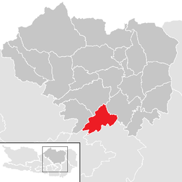 Location within Sankt Veit an der Glan district